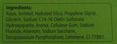Care Zahncreme (Flüssiger Zahnschmelz) - Ingredients - de