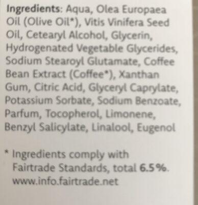 Coffee body lotion - Ingredients - de