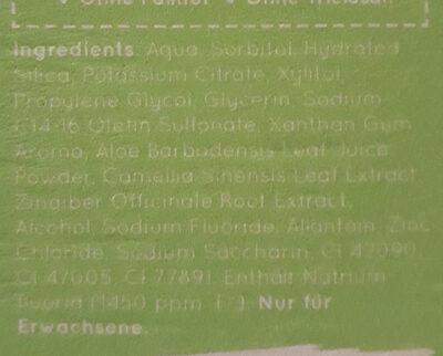 super green Zahnpasta - Ingredients - de