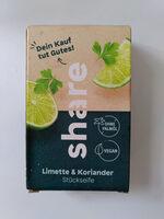 share Limette & Koriander Stückseife - Product - en