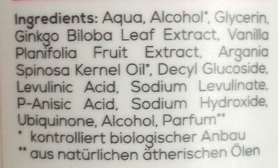 Anti Age Gesichtswasser - Ingredients