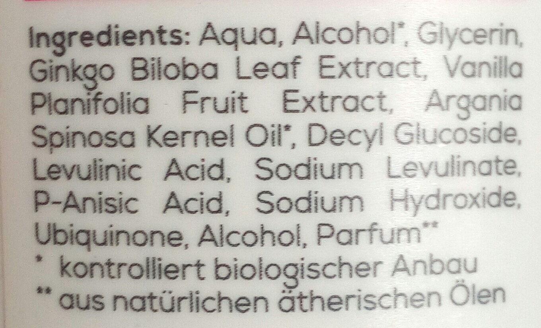 Anti Age Gesichtswasser - Ingredients - de