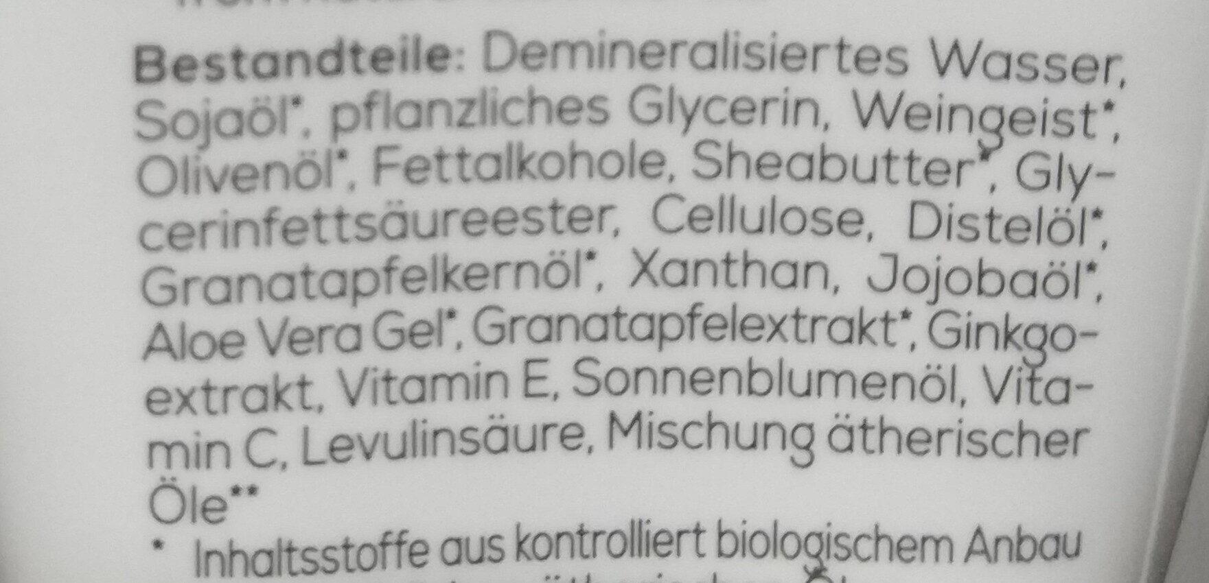 Reichhaltige Handcreme mit Granatapfel & Sheabutter - Ingredients - de