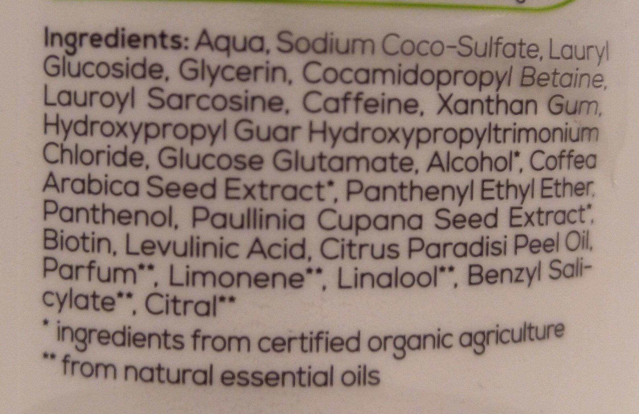 Alterra Koffein-Shampoo - Ingrédients - de