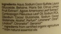 Duschgel Bio-Limette & Bio-Agave - Ingredients - de