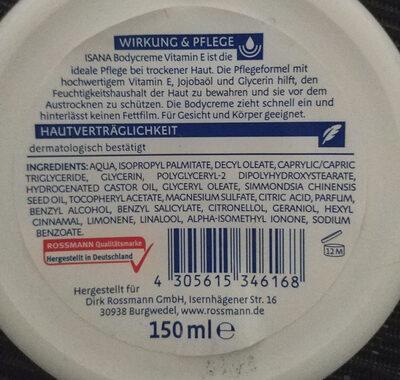 Bodycreme Vitamin E - Product - en
