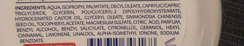 Bodycreme Vitamin E - Ingredients - de