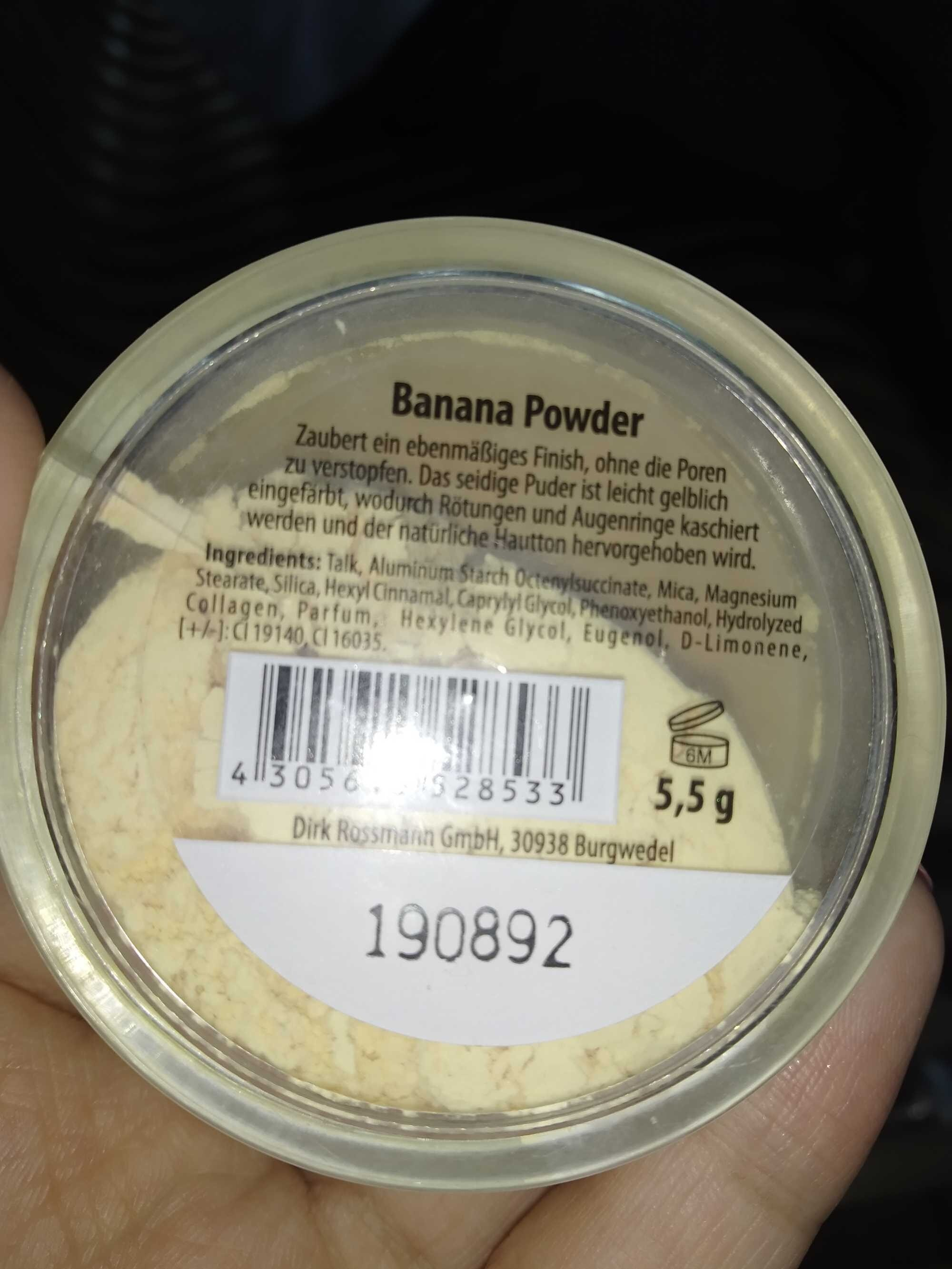 Banana powder - Product - en