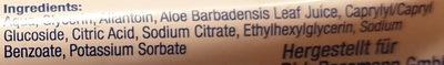 Feuchte Toilettentücher Sensitiv Classic - Ingredients - de