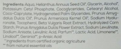 Sleeping Cream - Ingredients
