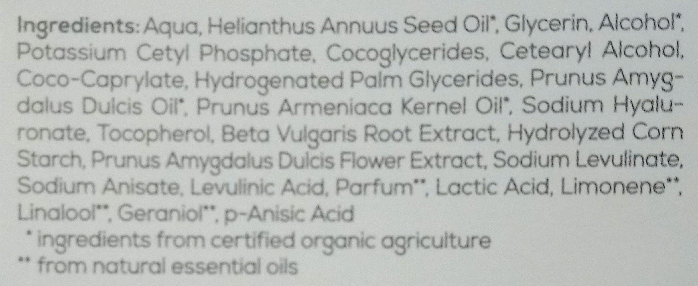 Sleeping Cream - Ingredients - en