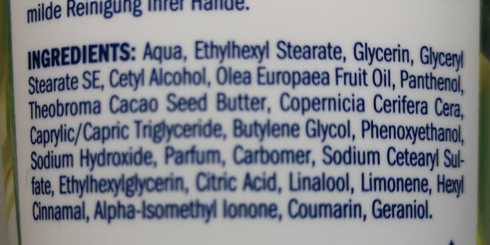 Handcreme Grüne Olive - Ingredients - de