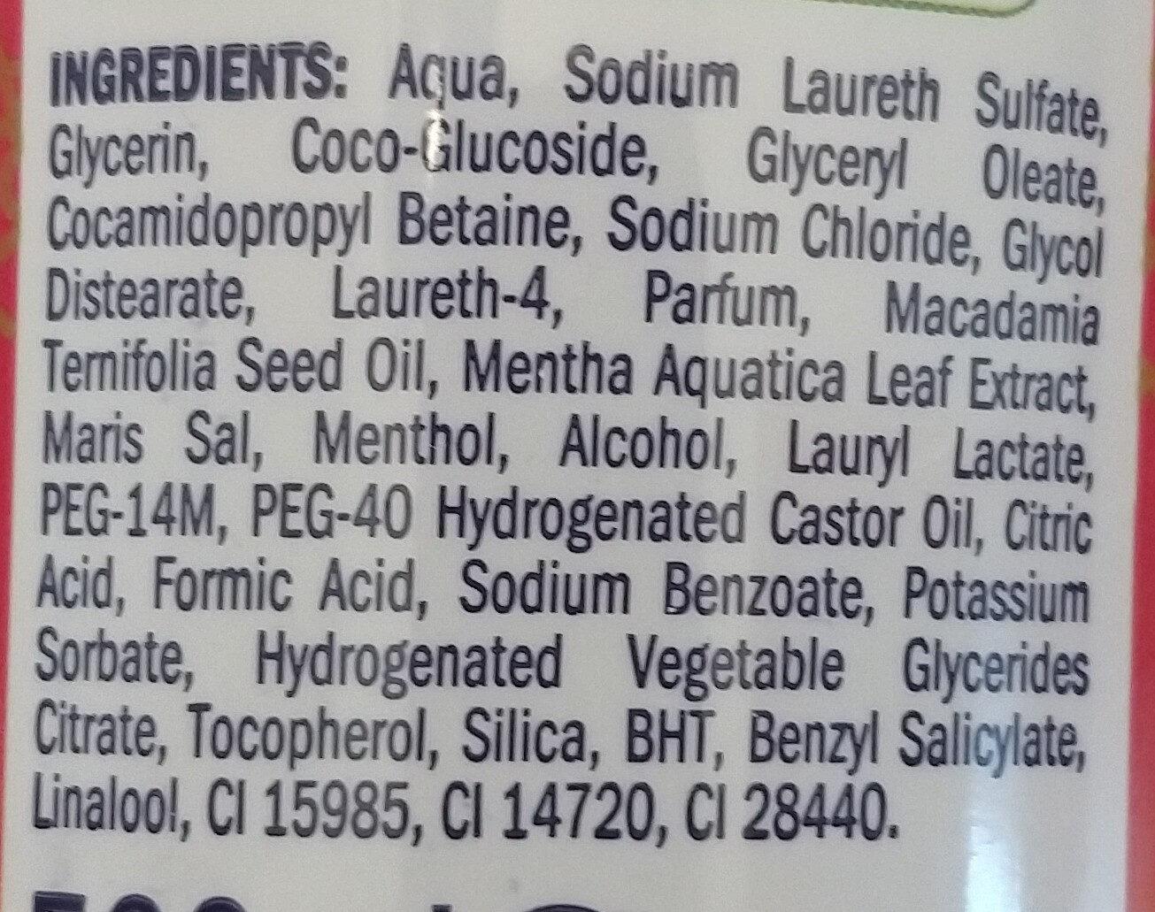 CREME-ÖL-BAD ENTSPANNUNGS-Zeit cremiges Badeerlebnis mit Macadamia-Nuss-Öl - Ingrédients - de