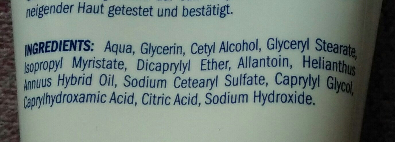 Isana Med Handcreme Ultra Sensitive - Ingredients - de