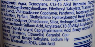 Sonnencreme LSF 50+ sehr hoch - Ingredients - en