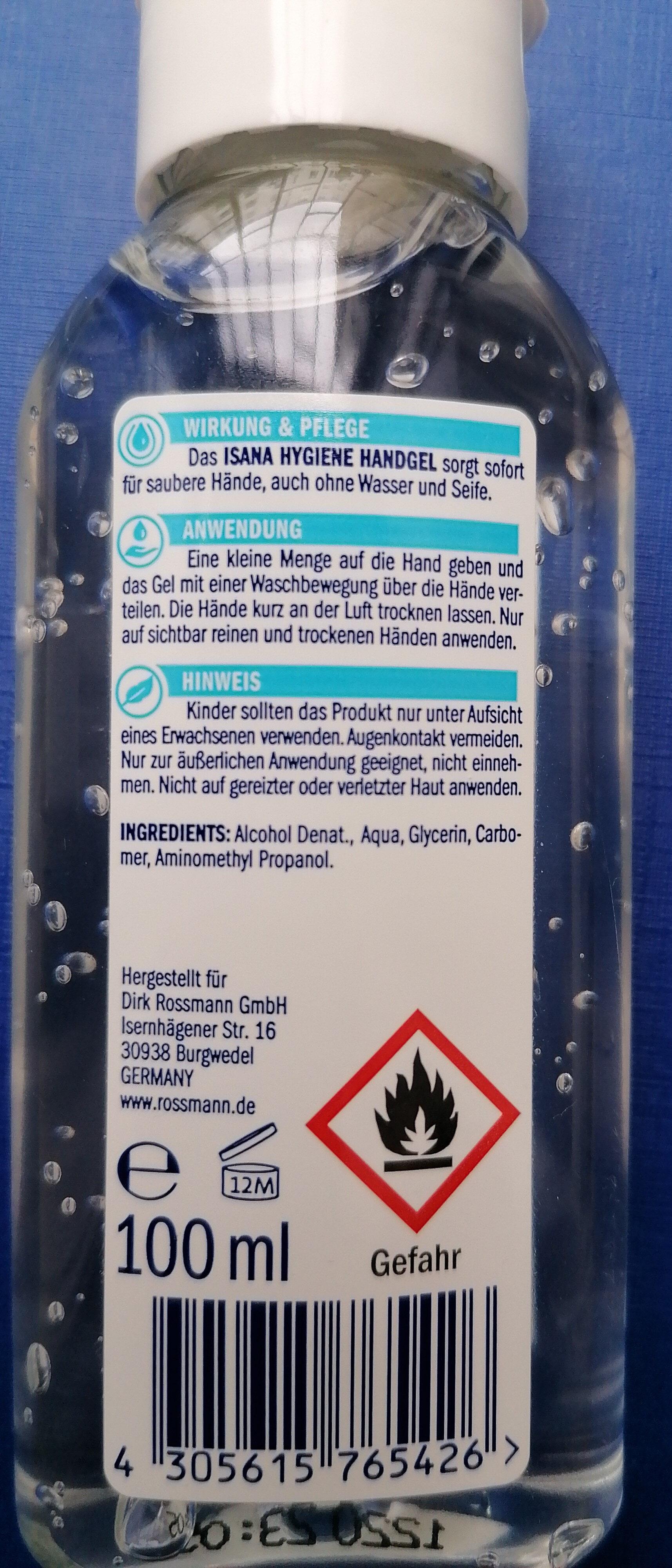 ISANA  MED  Hygiene Handgel (Alkoholisch} - Ingredients - de