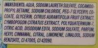 Duschgel Zitronengras & Limette - Ingredients