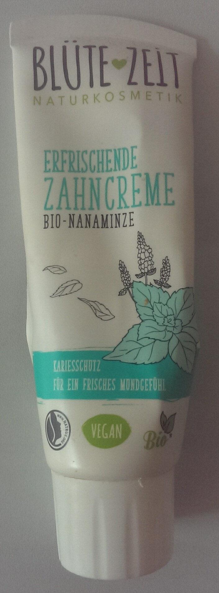 Blütezeit erfrischende Zahncreme mit Bio-Nanaminze - Produit - de