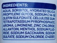 Zahngel Fluor-Fresh - Ingrédients - de
