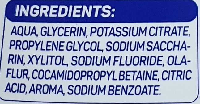 Mundspülung sensitive - Ingredients - de