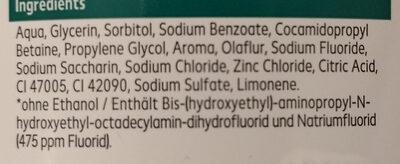 Mundspülung mint - Ingredients - de