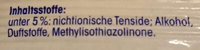 Feuchte Allzwecktücher Pure Frische - Ingredients - de