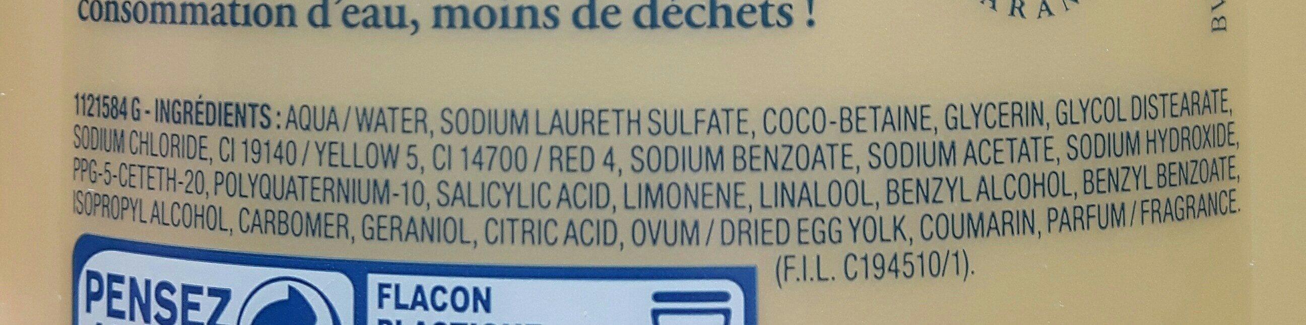 DOP shampooing aux oeufs - Ingrédients - fr