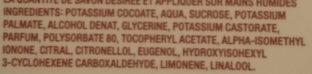 Savon liquide à la glycèrine, bois d'agrume - Ingredients - fr