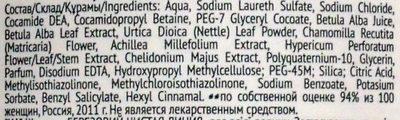 Берёзовый шампунь - Ingredients