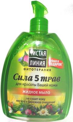 Жидкое мыло ЧИСТАЯ ЛИНИЯ Сила 5 трав - Product - ru