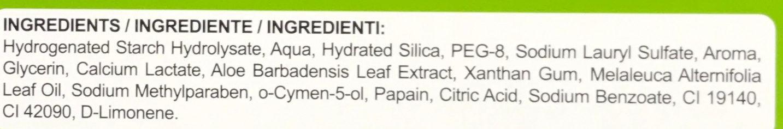 Dentifrice renforçant Organic Menthe douce - Ingrédients