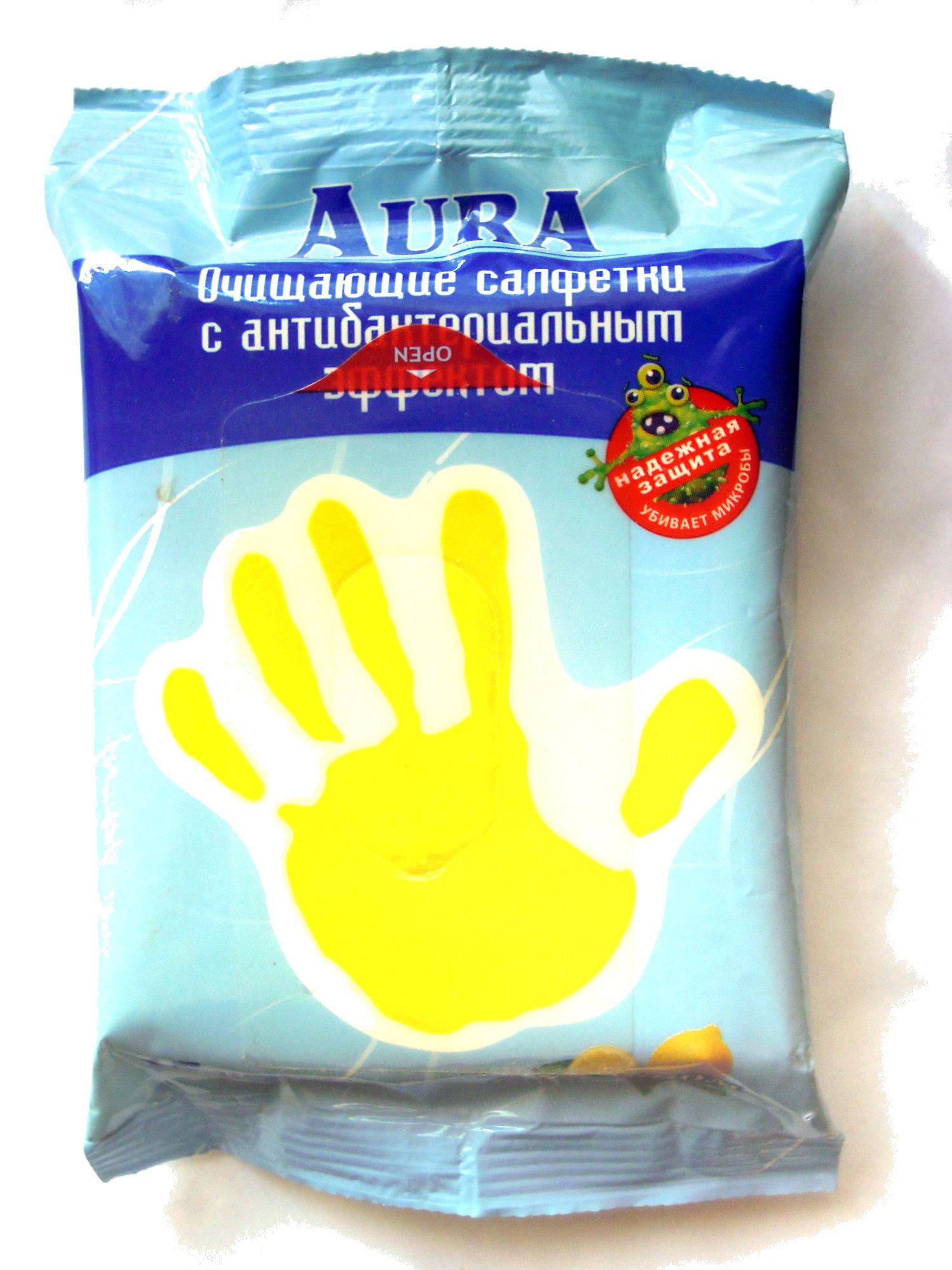 Очищающие салфетки с антибактериальным эффектом С лимоном - Product - ru