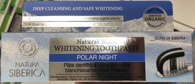 """Pâte dentifrice naturelle noire blanchissante """"Nuit polaire"""" - Product"""