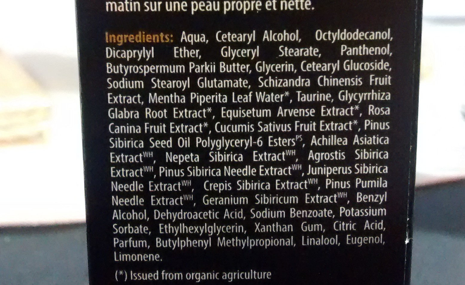 La force du loup - Ingredients