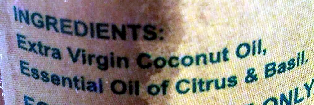 COCOBODY - extra virgin coconut oil - BODY & MASSAGE OIL - Ingredients