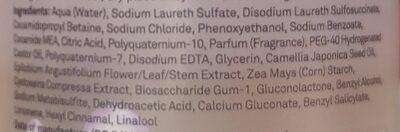 Micellar Botanical Deep Cleansing Shampoo - Ingrédients - en