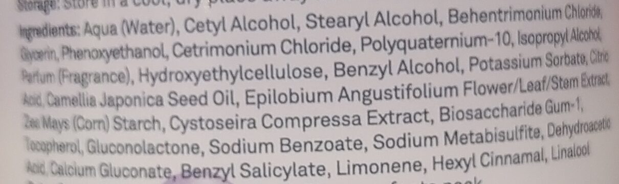 Micellar Botanical Deep Cleansing Conditioner - Ingredients - en