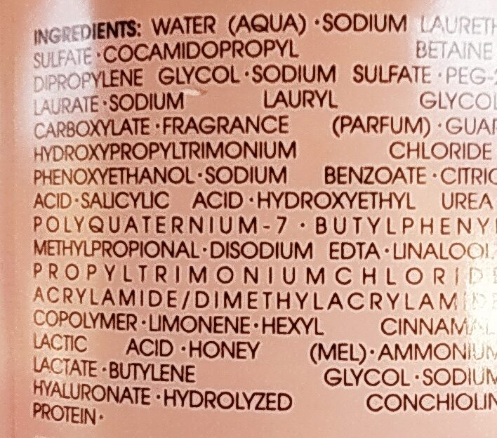 Moisture Conditioner - Ingredients