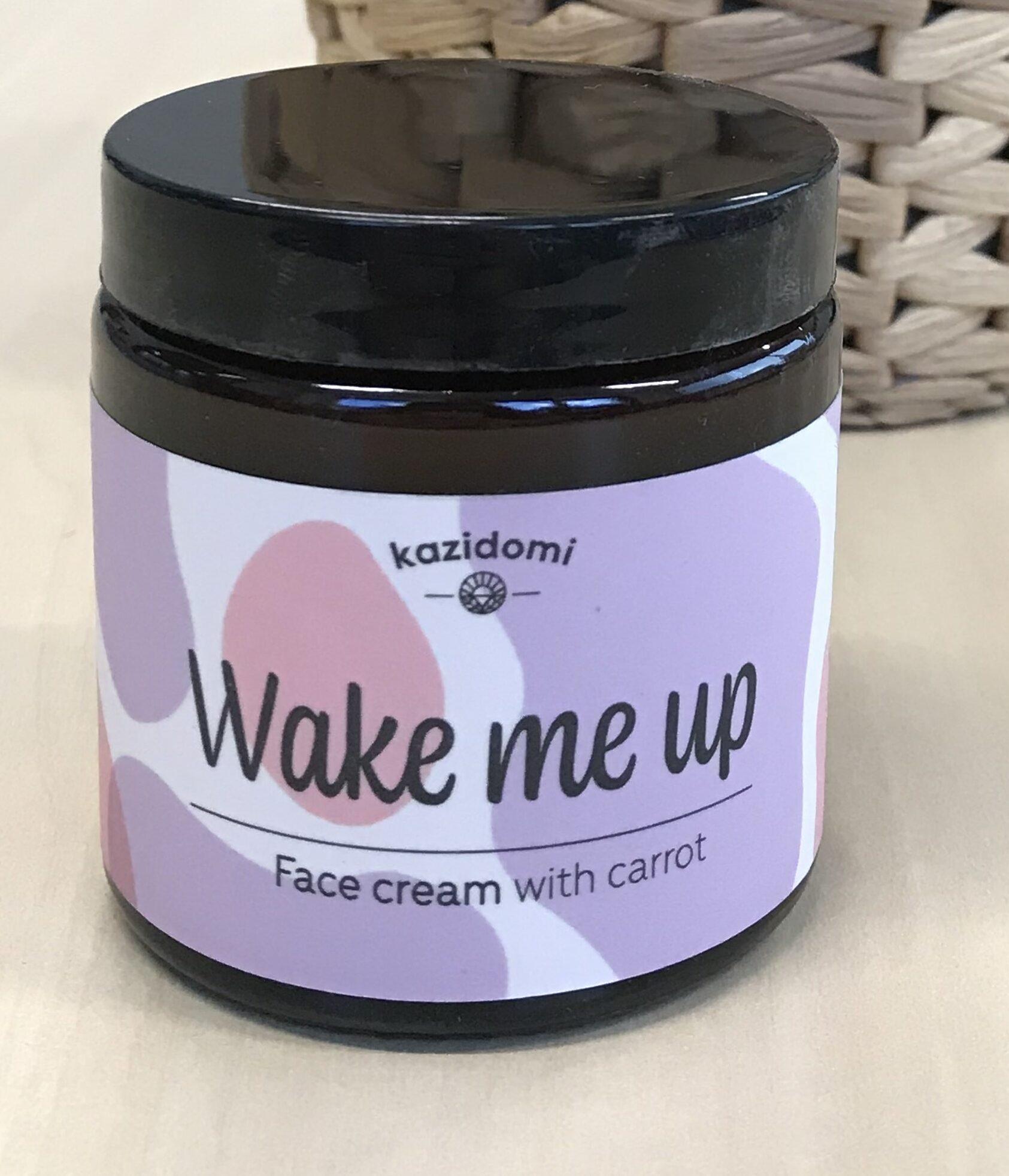 Crème Visage Peau sèche & sensible Wake Me Up Kazidomi - Product - fr