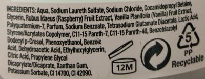 82 sunrises Vanilla & Raspberry - Ingredients - en