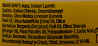 Original Source Lemon and Lime Revive - Ingredients
