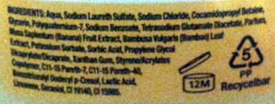 Original Source Grüne Banane und Bambusmilch - Ingredients