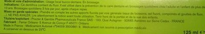 Fluocaril Bi-fluoré 250mg - Ingredients - en