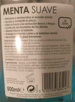 Enjuague bucal Menta suave - Ingredients