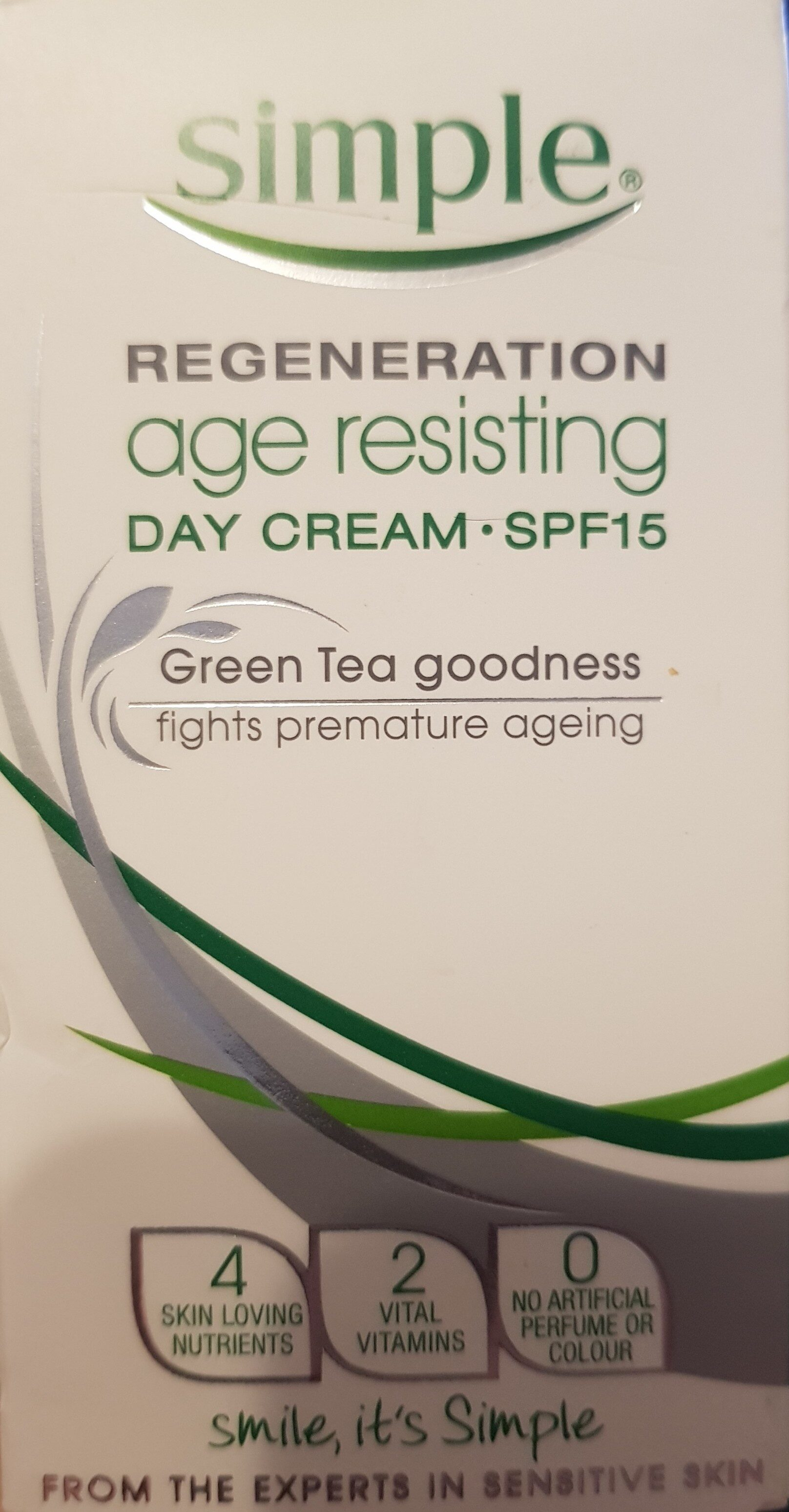 Simple Regeneration Age Resisting Day Cream - Product - en