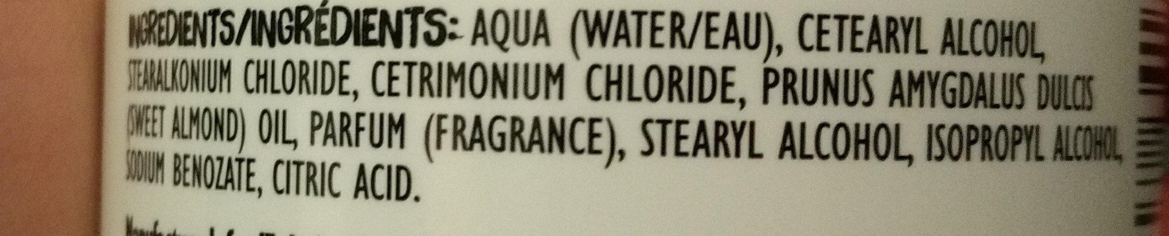 Nourish Me Almond Conditioner - Ingredients - en