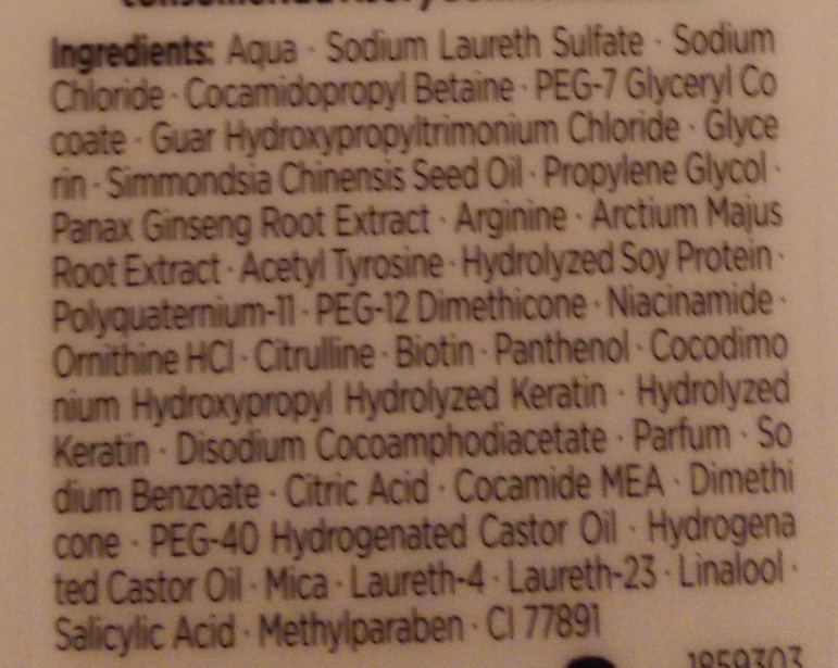 Gliss Hair Repair Total Repair Shampoo - Ingredients