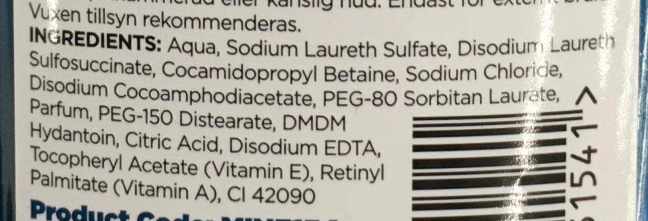 2in1 Shampoo & Conditioner Despicable Me - Ingredients