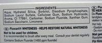 Fluocaril Blancheur - Ingredients