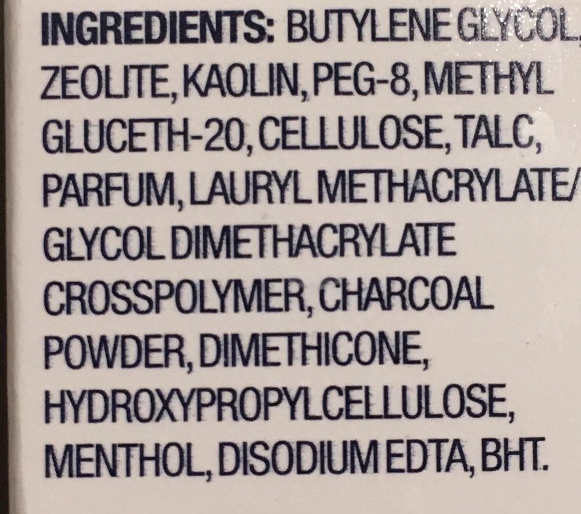 Masque auto-chauffant au charbon - Ingredients - fr